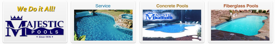 Vinyl liner swimming pools, fiberglass and the best above ground builders from Majestic Pools of Orange Park FL near Jacksonville.